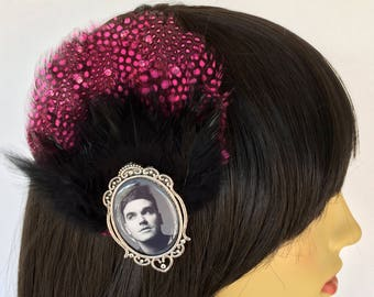 Morrissey, The Smiths, Pink Fascinator, Black Feather Fascinator