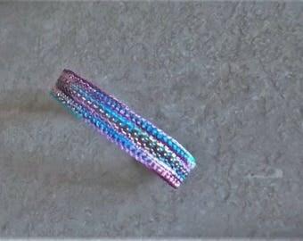 Bonnie's OOAK Crochet cotton Thread Item Island Breeze Combo (Thread & Ball Chain)  Bracelet Snap it Up Now #cyicrochet