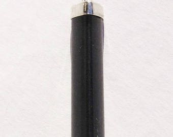 Polished Black Tourmaline Pendant