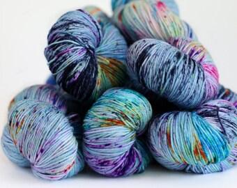 Impressionist 463 yards on 'Posh' Sock Yarn/ 4 ply merino, hand painted sprinkle