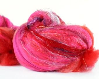 Crush 4.2 oz  Wool - Merino // Art Batt // Wool Art Batt for spinning or needle felting