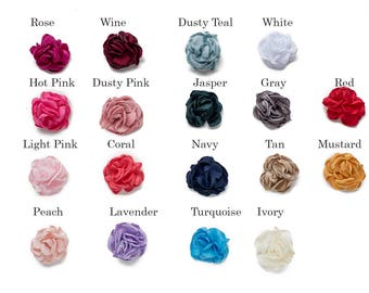 """BUYER PICK your color x 3  : 2"""" Satin Singed Peony Craft Flower for Headband DIY Kits   Girls Accessories Baby Showers Festival Crowns"""