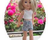 14 inch Doll  Hoodie and Hat  will fit Dolls like  Wellie Wishes  - Shorts - Cropped Top