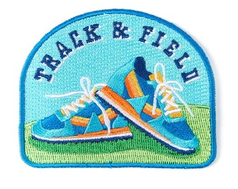 Track & Field Iron On Patch