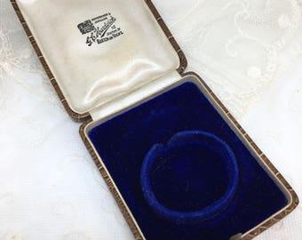 Antique Victorian pocket fob watch-brooch-pendant-locket box c1890's English vintage jewellery display storage gift presentation