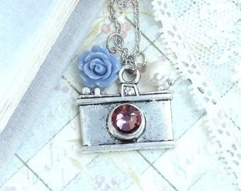 Camera Necklace Photographer Gift Photography Necklace Photographer Necklace Shabby Chic Necklace