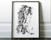 Nudity Men, Nudeart Drawing, Watercolor Painting, Sensual Artwork, Painting Print Set, Sexual Art, Erotic Print, Erotic Art Prints, Wall Art