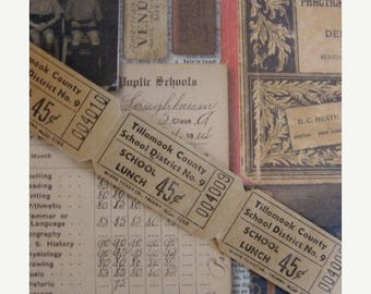 ON SALE Antique 1950s Two Dozen Way KOOL Lunch 45 cent Tickets