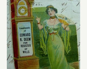 ONSALE Rare Antique Edwardian Sewing 1919 Original Needle Keeper Book Advertisement for Edward Deem for the Primary in 1923