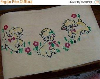 ONSALE Vintage  Kitsch Lamb 1940s Paper