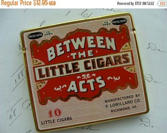ONSALE Antique Tin 1930s Between the Acts Little Cigar Tin Great Condition