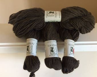 Elsebeth Lavold Angora Yarn, 4 Skeins of #016 Earthy Colorway, 91 Yards Each or 364 Yards Total, Angora Wool Blend, Very Soft!