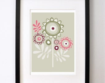 Summer Flower Heads- Open Edition Giclee Print