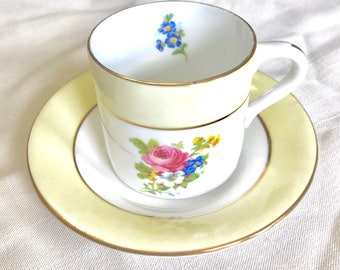 Rosina Bone China cup and saucer, English cup and saucer, Demmitasse cup and saucer, vintage cup and saucer, Porcelain cup and saucer,Rosina
