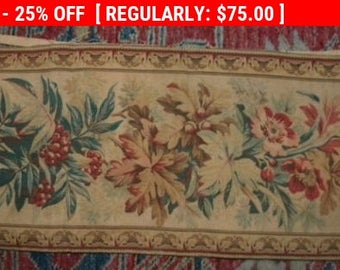 Antique French Tapestry Border 19thc