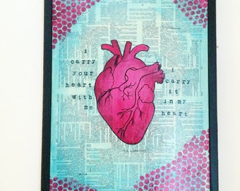 Anatomical Heart I Carry Your Heart With Me Painting
