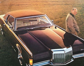 1968 Continental Mark III and Chevrolet Caprice Advertisement