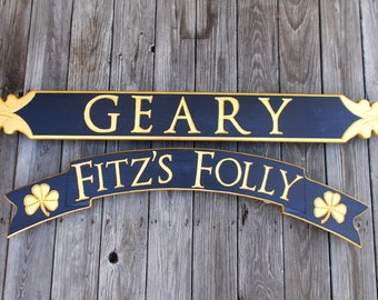 Quarterboard signs ~ Cottage signs ~ Nautical Signs ~ An added & special  look to any decor.  Let us know your ideas.