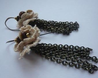 Earrings lace Sissi steel strand