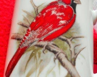 SALE TODAY Red Cardinal Bird Coffee Mug, Chadwick Porcelain Cup