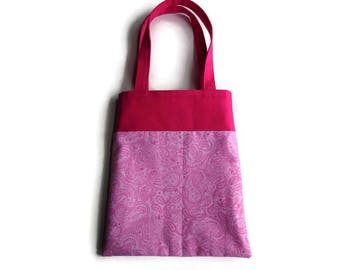 Pink Paisley Gift Bag - Goodie Bag - Mini Tote