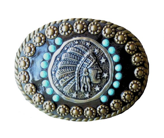 Western Southwestern Native American Style Belt Buckle