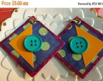 super sale paper mache handmade earrings
