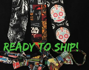 Star Wars Harry Potter neck tie, gifts for nerd geek guys, READY TO SHIP ! Marvel and Star Wars comic book bowtie