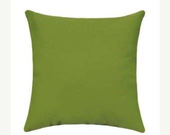 Green Outdoor Pillow, Sunbrella Canvas Parrot Outdoor Pillow, Green Sunbrella Throw Pillow, Green Sunbrella Cushion Free Shipping 5405-0000