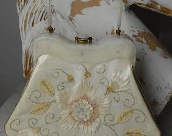 Vintage Purse, 50s Purse, Vintage Handbag, Kitsch Hand Bag, Lucite Handbag, Picture Window, Summer Purse, Rockabilly Purse, Pin Up Purse