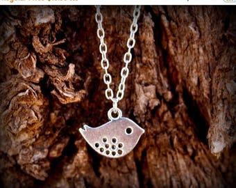 Summer SALE Simple Little Bird Silver Plated Necklace