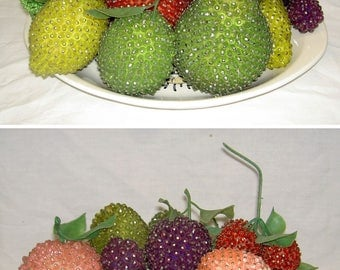 Vintage Beaded Fruit - Mix and Match!