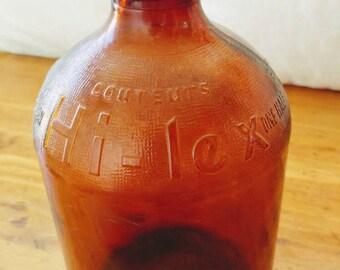 Vintage hilex bleach bottle