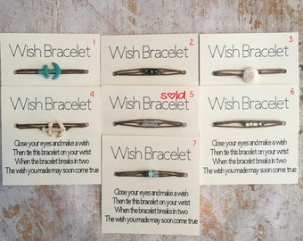 Wish Bracelets - many styles to choose from! Doubles as an anklet or choker.