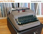 SALE 25% OFF 1950's Smith Corona Sterling Manual Typewriter with Case, FREE Shipping!