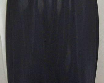 ON SALE Vintage Shadowline Black Half Slip Nylon Lace Small Tall