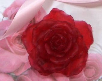 Perfect Rose Soap for Mothers Day - intricate detailed rose soap//choose scent/handmade soap favors/soap gift/hostess gift