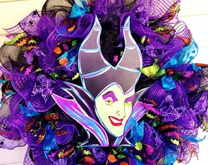 SALE- Maleficent Halloween - Welcome Door Wreath