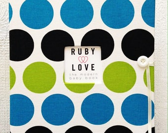SCHOOL YEARS BOOK | Blue and Green Bold Dot Album