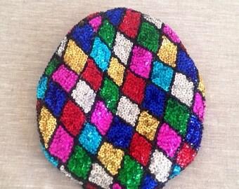 40% SUMMER SALE The Vintage Multicolor Diamond Sequin Conductor Hat