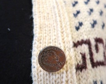 40% OFF The Coin Button Winter Cardigan