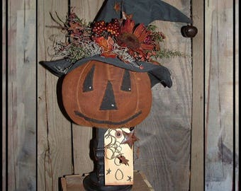SALE Mailed paper pattern Primitive folkart pumpkin witch make do pattern HAFAIR ofg faap Haguild 339