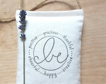 Lavender Hanging Pillow, encouragement gift for women friends