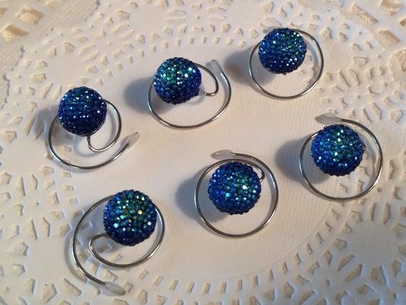 Hair Swirls Peacock Blue Wedding Dancers, Skaters, Bridesmaid Updos