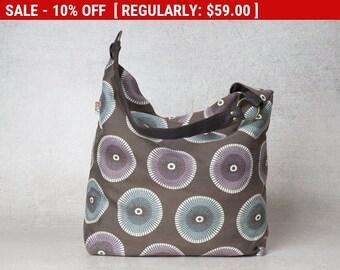 Medium Hobo bag pattern, hobo shoulder bag, over shoulder bags, cute shoulder bags, canvas shoulder bag, women shoulder bags