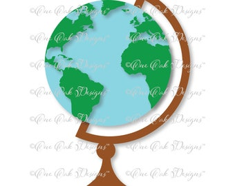 Globe SVG File PDF / dxf / jpg / png / for Cameo for Cricut Explore & other electronic cutters
