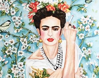 Portrait of Frida Kahlo, Frida Kahlo, Frida, Frida Kahlo Painting, Frida Kahlo Art, Wall Art, Home Decor
