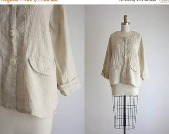 25% SALE FLAX linen jacket