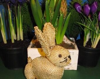 40% OFF SALE Instant Digital File PDF Download Golden Bunny Rabbit  Toy knitting pattern pdf