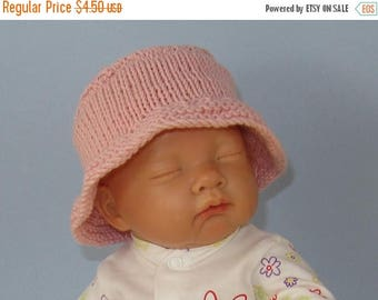 40% OFF SALE Instant Digital File knitting pattern - Baby & Child Simple Bucket Hat download knitting pattern.